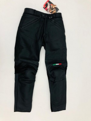 LEATHER MAN'S TROUSERS DUCATI FLAG SIZE 46 cod 982939012UA NEW