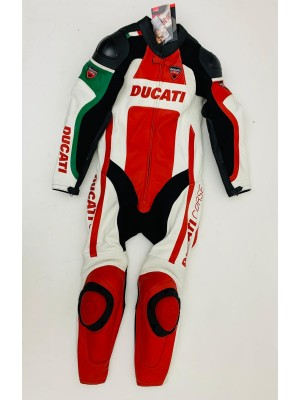 MOTORCYCLE LEATHER SUIT DAINESE DUCATI CORSE SBK INTERA SIZE 50 981524004UA NEW