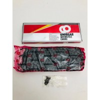 MOTORCYCLE CHAIN 415 140 LINKS BLACK  NEW