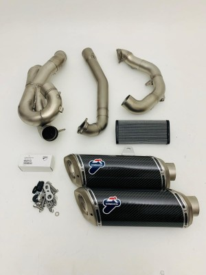 KIT CARBON EXHAUST SILENCERS TERMIGNONI DUCATI STREETFIGHTER 848 NEW