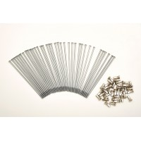 KIT 40 SPOKES AND NIPPLES DM 3,00 mm LENGHT 150 mm STRAIGHT