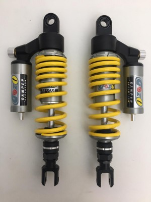 GAZI rear shock absorbers 370 mm cafè racer ducati guzzi triumph with forks