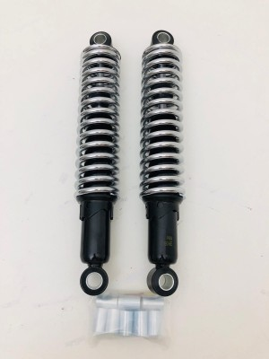 universal rear shock absorbers 360 mm ducati guzzi gilera chrome spring new