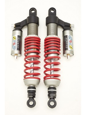 UNIVERSAL TITANIUM GAZI REAR SHOCKS ABSORBER 390 MM FOR MOTO GUZZI V7 II SERIES RED SPRINGS