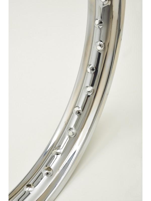 CERCHIO IN ACCIAIO CROMATO CHROME STEEL WHEEL RIM 1,85 X 18 40 FORI