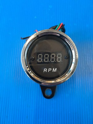 DIGITAL BLACK REV COUNTER FOR CAFE' RACER