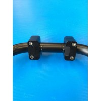 POLISHED ALLUMINIUM RISER FOR HANDLEBAR FROM DIAMETER 22 mm TO 28 mm