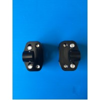 BLACK POLISHED ALLUMINIUM RISER FOR HANDLEBAR FROM DIAMETER 22 mm TO 28 mm