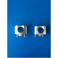 POLISHED ALLUMINIUM RISER FOR HANDLEBAR FROM DIAMETER 22 mm TO 28 mm