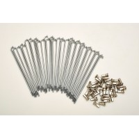 KIT 40 SPOKES AND NIPPLES DM 2,5 mm LENGHT 175 mm BEND 90°