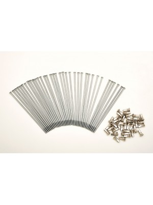KIT 40 SPOKES AND NIPPLES DM 4 mm LENGHT 170 mm STRAIGHT